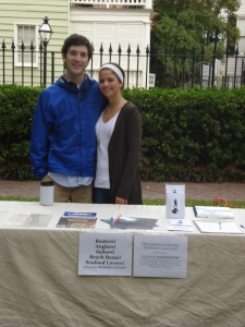 Cyrus and Courtney at the College of Charleston Green Fair